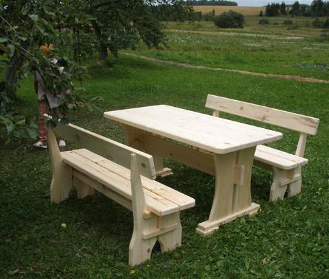Дачная мебель своими руками из дерева фото