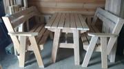 Садовый мебельный комплект (ольха)