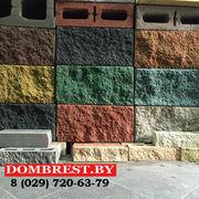 Блоки для забора, рваный камень, забор из декоративного камня