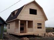 Дома из бруса Эмил 6 на 8 установка в Дрогичине и районе
