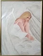 Картина акриловыми красками на стекле