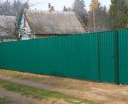 Забор из металлопрофиля стандартных высот 1, 7 и 2, 0 м